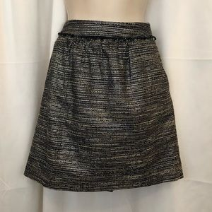 GAP SZ 10 dark blue / silver holiday skirt NEW